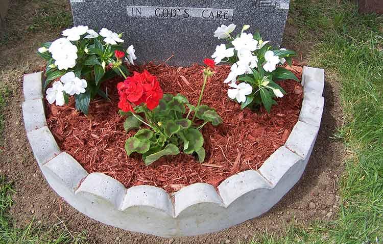 Border-around-gravestone-for-plants