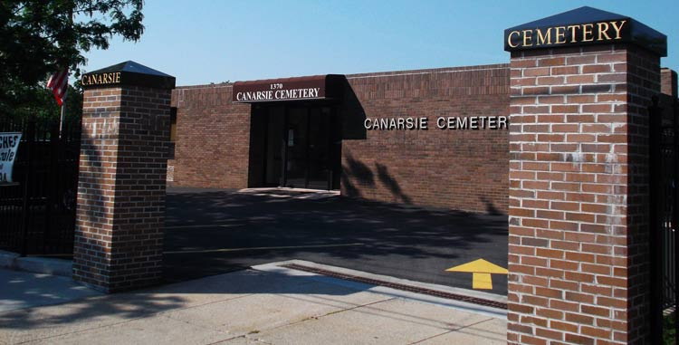 Canarsie-Cemetery-Front-Office-Entrance-with-Parking-Lot