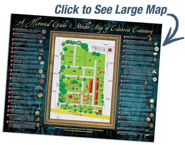 Thumnail size of Canarsie Notable Map with words to click to see larger map