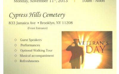 Veteran's Day at Cypress Hills Cemetery